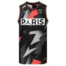 Nike Débardeur Mesh 23 Jordan x PSG - Noir/Rouge ÉDITION LIMITÉE