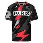 Nike Mesh T-Shirt Jordan x PSG - Noir/Rouge ÉDITION LIMITÉE