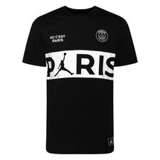 Nike T-Shirt Wordmark Jordan x PSG - Svart/Vit LIMITED EDITION