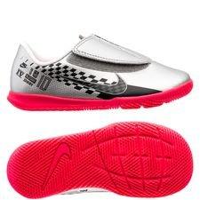 Nike Mercurial Vapor 13 Club Velcro IC NJR Speed Freak - Krom/Svart/Röd Barn