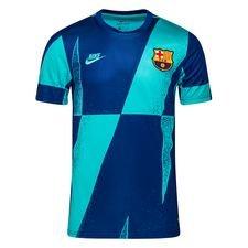 Barcelona Tränings T-Shirt Pre Match Europa - Turkos/Navy