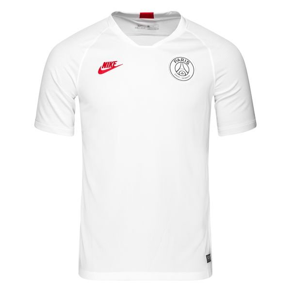 Paris Saint Germain T shirt d'Entraînement Breathe Strike BlancGrisRouge