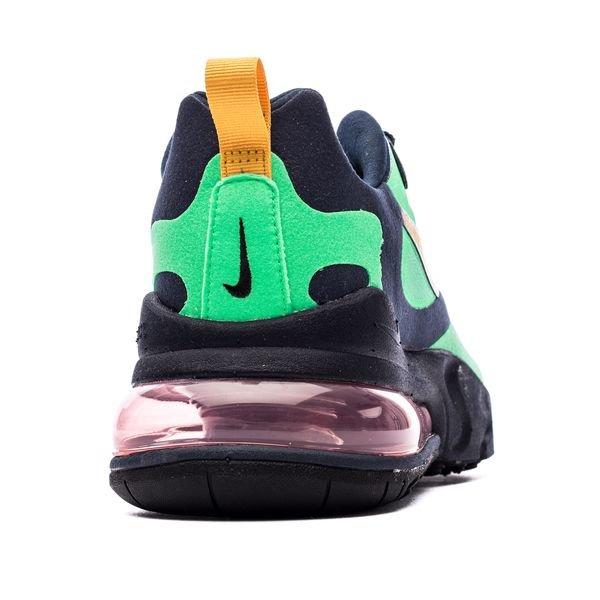 Nike Air Max 270 React VertJauneBleu Foncé