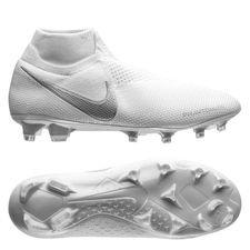 Nike Phantom Vision Elite DF FG - Hvid/Krom/Sølv