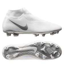 Nike Phantom Vision Academy DF MG - Hvid/Krom/Sølv