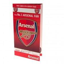 Arsenal Geburtstagskarte - Röd