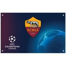 Roma Champions League Flagga - Blå