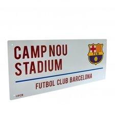 Barcelona Skylt Camp Nou - Vit