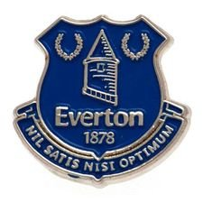 Everton Badge - Silver/Blå