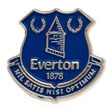 Everton Badge - Silver/Blå