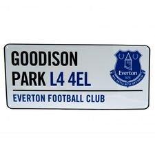Everton Skylt Goodison Park - Vit