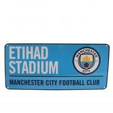 Manchester City Skylt Etihad Stadium - Blå