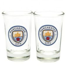 Manchester City Shotglas 2-Pack - Blå