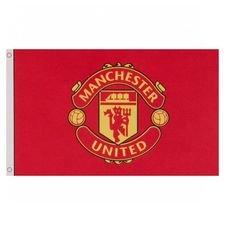 Manchester United Flagga Logo - Röd