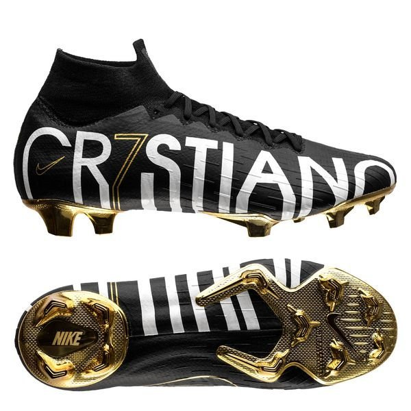 sports shoes cac51 f616e Nike Mercurial Superfly 6 Elite CR7 FG - Sort/Guld LIMITED EDITION