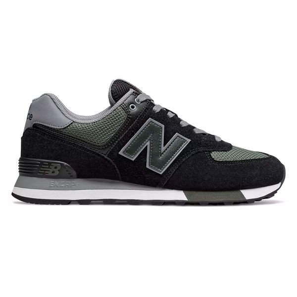 New Balance 574 - Black/Green | www