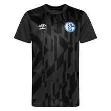 Schalke 04 Tränings T-Shirt Warm Up - Svart