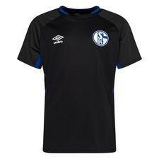 Schalke 04 Tränings T-Shirt - Svart/Blå Barn