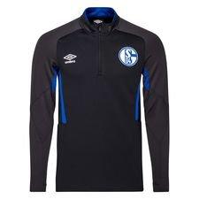 Schalke 04 Träningströja 1/4 Blixtlås - Svart/Blå