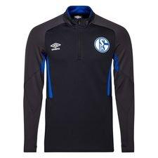 Schalke 04 Träningströja 1/4 Blixtlås - Svart/Blå Barn