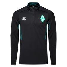 Werder Bremen Träningströja 1/4 Blixtlås - Svart/Grön Barn
