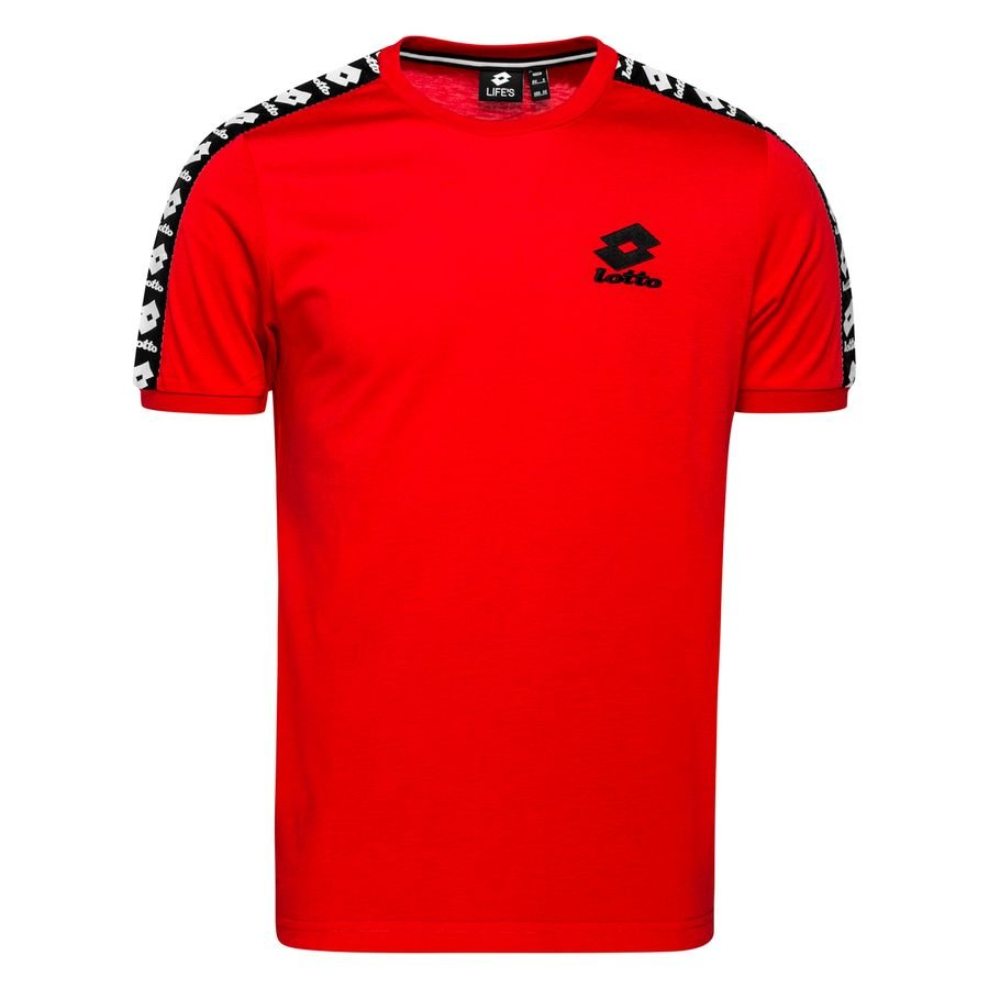 Lotto T-Shirt Athletica III - Rød/Sort thumbnail