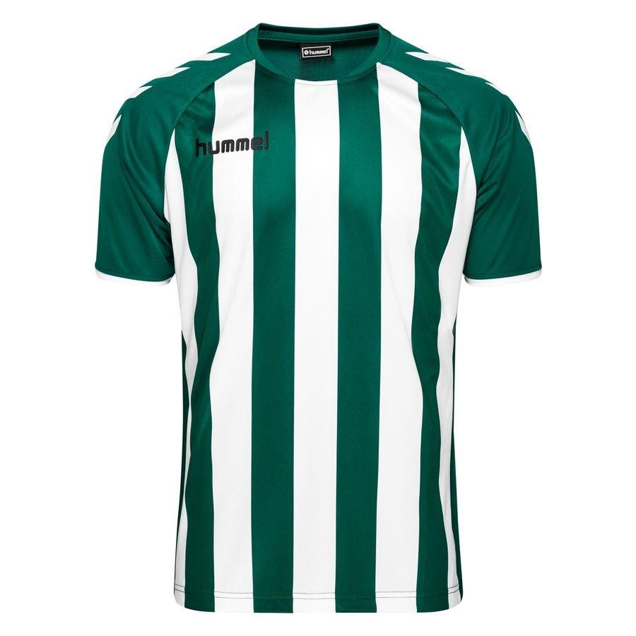 Hummel Spilletrøje Core Striped – Grøn/Hvid Børn