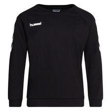 Hummel Sweatshirt Go Cotton - Schwarz/Weiß Kinder