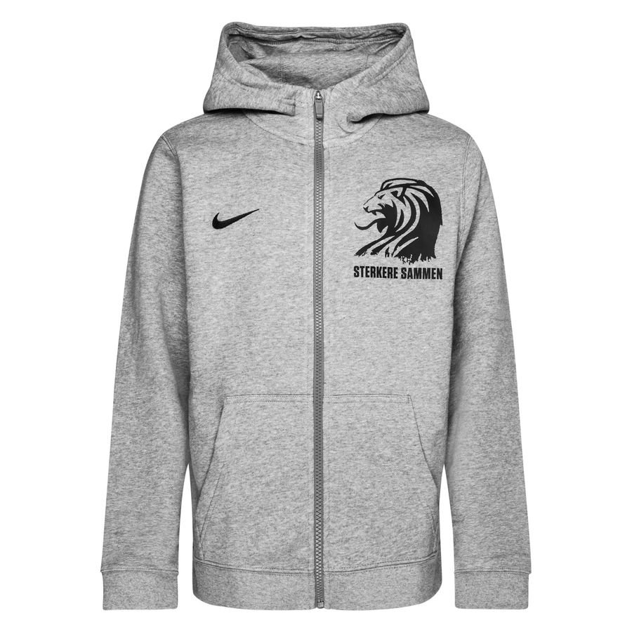 Nike Hættetrøje Club 19 - Grå/Sort Børn thumbnail
