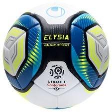 Uhlsport Fotboll Elysia Ligue 1 2019/20 Matchboll - Vit/Blå/Gul