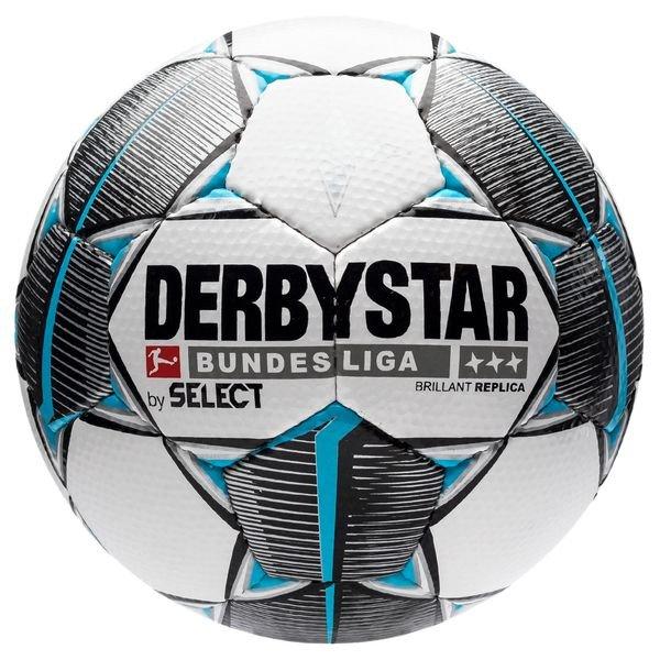 Derbystar Football Brillant Aps Replica Bundesliga 2019 20 White Black Petrol Night