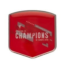 Liverpool Champions Of Europe Badge - Röd