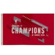 Liverpool Champions Of Europe Flagga - Röd/Vit