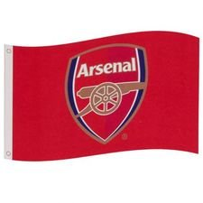 Arsenal Flagga Logo - Röd