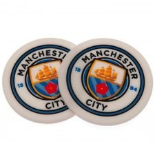 Manchester City Glasunderlägg 2-Pack - Vit