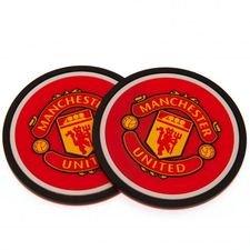 Manchester United Glasunderlägg 2-Pack - Röd