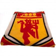 Manchester United Fleece Filt - Röd/Gul