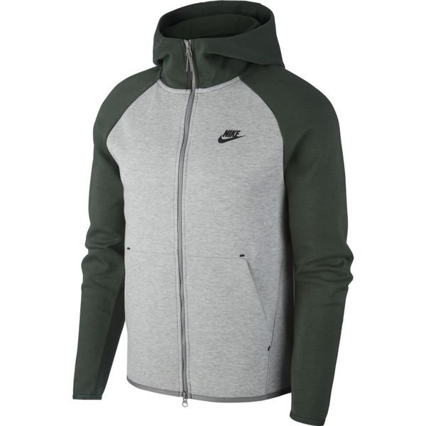 Nike TECH FLEECE WINDRUNNER HOODIE Grå Sort textil