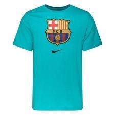Barcelona T-Shirt Crest - Turkos Barn