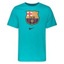 Barcelona T-Shirt Crest - Turkos
