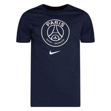 Paris Saint-Germain T-Shirt Crest - Navy/Vit Barn