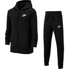 Nike Trainingspak Core NSW - Zwart/Wit Kinderen Kinderen