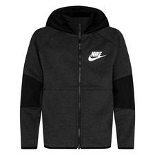 Nike Hoodie NSW Tech Fleece Winterized - Zwart/Heather/Wit Kinderen