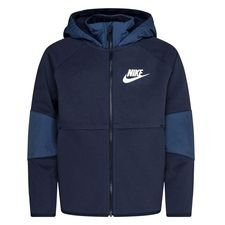 Nike Hoodie NSW Tech Fleece Winterized - Navy/Heather/Wit Kinderen