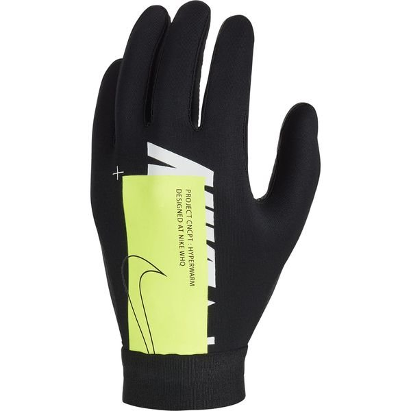 on feet at sale online quality products Nike Air Player Gloves Academy Hyperwarm - Black/Volt/White Kids ...