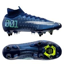 Nike Mercurial Superfly 7 Elite SG-PRO - Navy/Neon/Sort