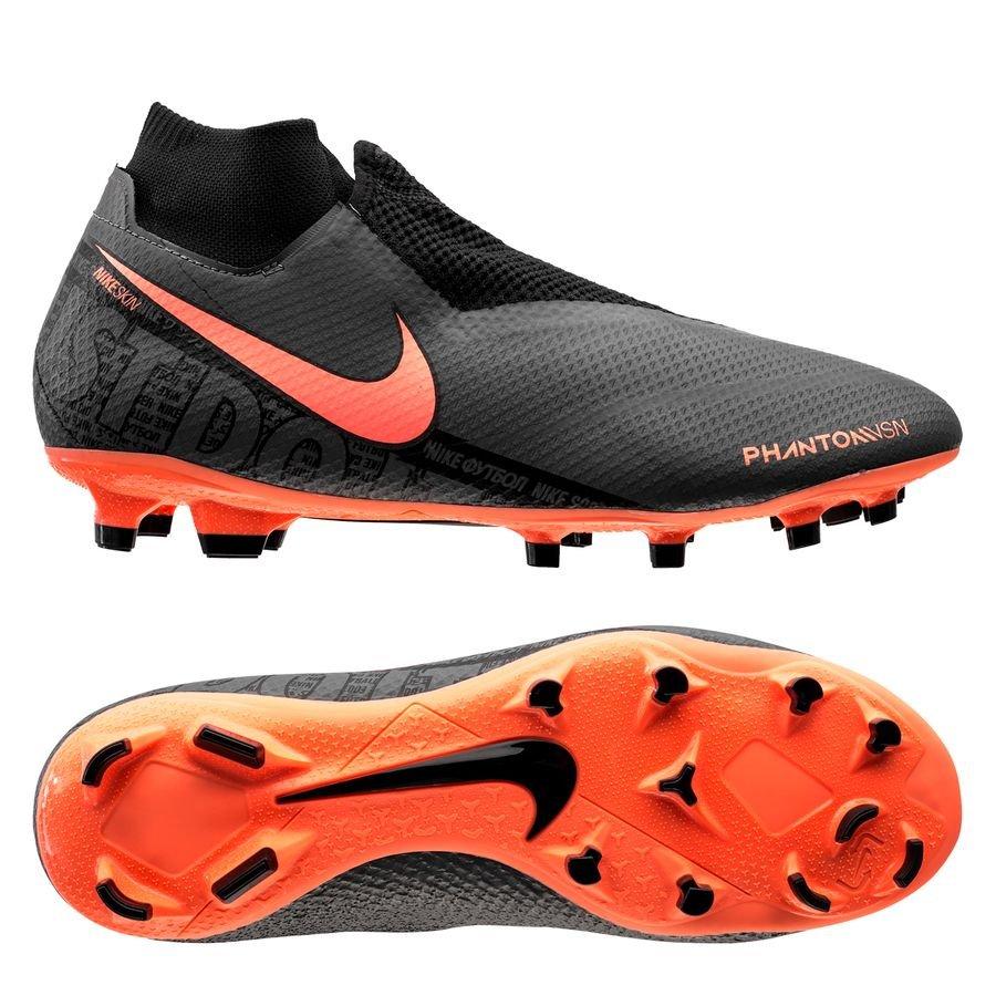 Nike Phantom Vision Pro DF FG Fire – Grå/Orange/Sort