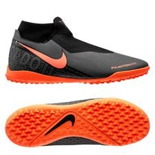 Nike Phantom Vision Academy DF TF Fire - Grå/Orange/Sort