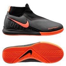 Nike Phantom Vision Academy DF IC Fire - Grå/Orange/Svart Barn