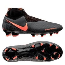 Nike Phantom Vision Elite DF FG Fire - Grå/Orange/Svart